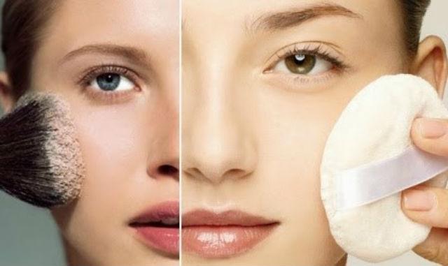 Apply face powder