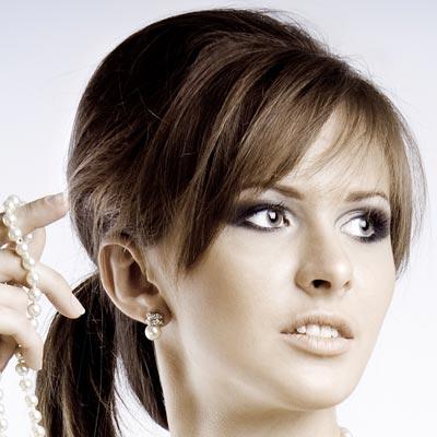 crown volume ponytail